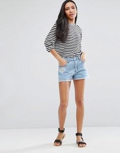 Джинсовые шорты с вышивкой Brave Soul Juliet - Синий
