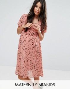 Платье миди с принтом Mamalicious - Розовый Mama.Licious