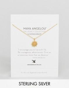 Позолоченное ожерелье Dogeared Maya Angelou Starburst - Золотой