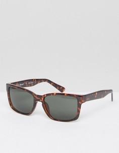 Квадратные солнцезащитные очки в черепаховой оправе A J Morgan - Коричневый