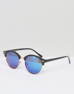 Круглые солнцезащитные очки с зеркальными стеклами A J Morgan - Черный