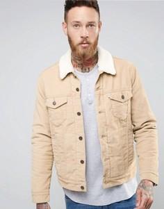 Бежевая вельветовая куртка на подкладке Borg Levis Type 3 Trucker - Бежевый Levis®