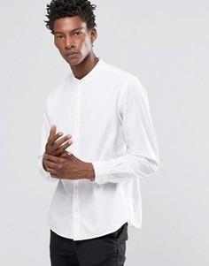 Рубашка зауженного кроя с воротником на пуговицах Celio - Белый