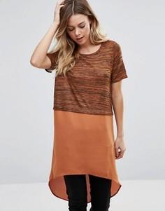 Туника с длинной кромкой Vero Moda - Оранжевый