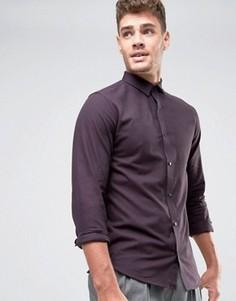 Узкая рубашка с начесом Jack & Jones Premium - Фиолетовый