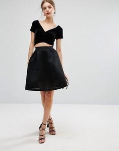 Юбка для выпускного из сетки Glamorous - Черный