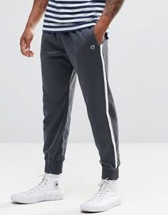 Темно-синие зауженные спортивные брюки в стиле ретро Abercrombie & Fitch - Синий