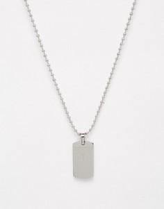 Серебристое ожерелье с солдатским жетоном Seven London эксклюзивно для ASOS - Серебряный