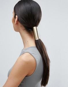 Базовая резинка для волос с гладкой отделкой ASOS - Золотой