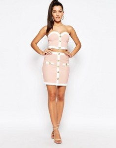 Мини-юбка Rare London - Розовый