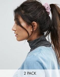 Набор из 2 резинок для волос цвета металлик ASOS - Мульти