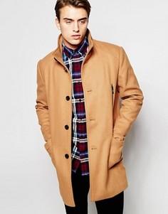 Шерстяная куртка с высоким воротом Produkt - Рыжий