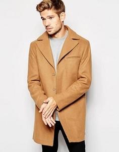 Бежевое шерстяное пальто Esprit - Рыжий