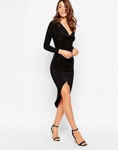 Асимметричное платье миди Sistaglam Ruby - Черный