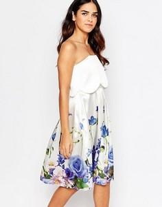 Платье-бандо с цветочным принтом Hope & Ivy - Белый