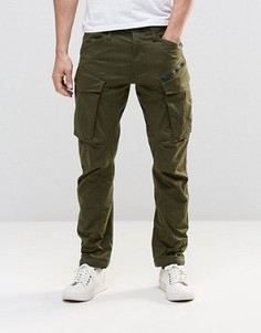 Суженные брюки карго с молниями G-Star Rovic 3D - Зеленый
