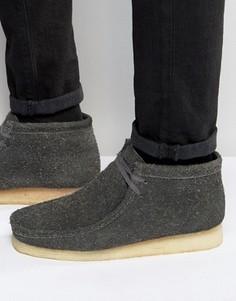 Ботинки Clarks Originals Wooly Wallabee - Серый