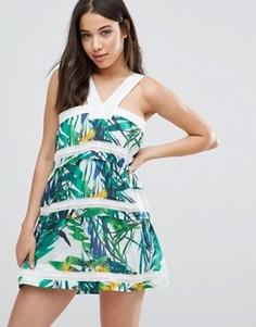 Платье с тропическим принтом d.RA Shanna - Мульти