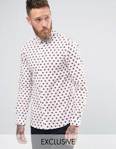 Рубашка с принтом звезд Noose and Monkey - Белый