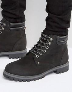 Утепленные ботинки из нубука Jack & Jones Stoke - Черный