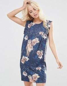 Цельнокройное платье с цветочным принтом Y.A.S - Мульти