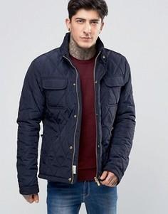Темно-синяя стеганая куртка Scotch & Soda - Темно-синий