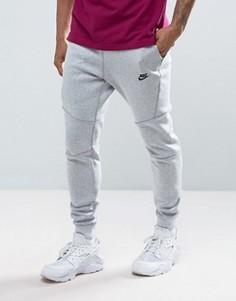 Серые флисовые джоггеры заниженного кроя Nike Tech 805162-100 - Белый