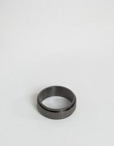 Черное кольцо с крестом Seven London эксклюзивно для ASOS - Черный