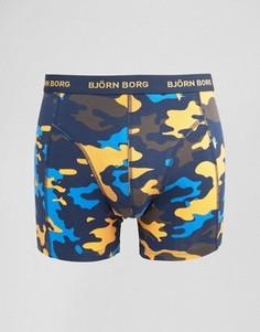 Боксеры-брифы с камуфляжным принтом Bjorn Borg - Темно-синий
