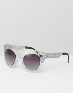 Солнцезащитные очки кошачий глаз Jeepers Peepers - Серебряный