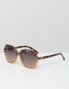 Круглые солнцезащитные очки оversize от Jeepers Peepers - Коричневый
