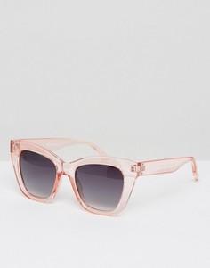 Солнцезащитные очки в прозрачной оправе AJ Morgan Sugar - Розовый