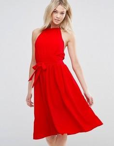 Платье с поясом d.RA Arnie - Красный