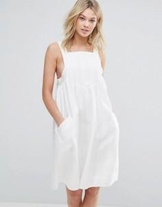 Цельнокройное платье с карманами d.RA Ellie - Белый