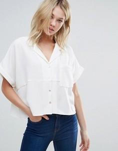 Свободная рубашка с короткими рукавами d.RA Aline - Кремовый