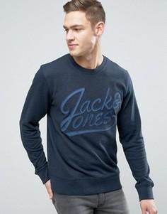 Свитшот с вышитым логотипом Jack & Jones Originals - Темно-синий