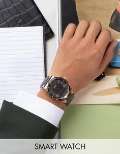 Смарт-часы с кожаным ремешком Guess Connect C0002MB3 - Черный