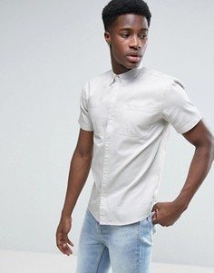 Легкая рубашка из шамбре D-Struct - Синий