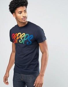 Темно-синяя облегающая футболка PS by Paul Smith - Темно-синий