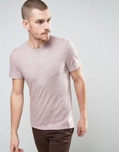 Меланжевая футболка Selected Homme - Розовый