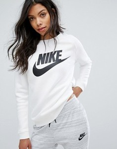 Белый свитшот с большим логотипом Nike Rally - Белый