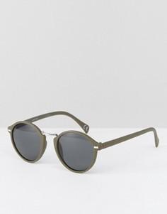 Круглые солнцезащитные очки цвета хаки ASOS - Зеленый