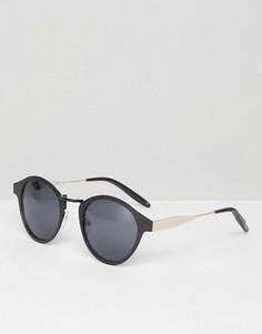 Черные круглые солнцезащитные очки ASOS - Черный