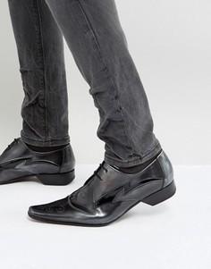 Серибристые туфли дерби Jeffery West Pino - Серебряный