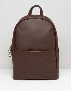Бордовый рюкзак из искусственной кожи ASOS - Красный