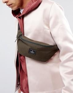 Сумка-кошелек на пояс цвета хаки с нашивкой ASOS - Зеленый
