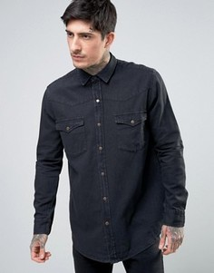 Рубашка Rollas Midnight Rambler - Черный Rollas