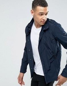 Темно-синяя узкая куртка с капюшоном Armani Jeans - Темно-синий