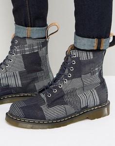 Ботинки-броги с 8 парами люверсов Dr Martens Made In England Pascal - Темно-синий