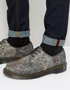 Туфли с 3 парами люверсов Dr Martens Made In England 1461 Stingray - Черный